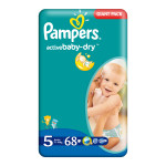 Scutece PAMPERS Active Baby 5 Junior, Giant Pack, 68 buc, 11-18 kg