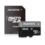 Card de memorie microSDXC 64GB ADATA Clasa 10 UHS-I + adaptor SD