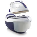 Statie de calcat GORENJE SGT2400VPRO, talpa ceramica Ultra-Glide, 1.2l, 250g/min, 2400W, alb-albastru