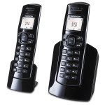 Telefon DECT SAGEMCOM D150DUO, digital, 50 memorii, negru