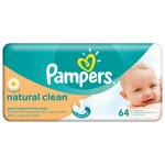 Servetele umede PAMPERS Natural Clean, 64 buc