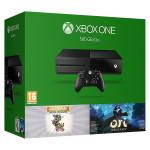 Consola MICROSOFT Xbox One 500 GB, negru + doua jocuri  Ori and the Blind Forest + Rare Replay (cod download)