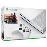 Consola MICROSOFT Xbox One Slim 500 GB, alb + Joc Battlefield 1 (cod download)