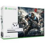 Consola MICROSOFT Xbox One Slim 1TB, alb + Joc Gears of War 4 (cod download)