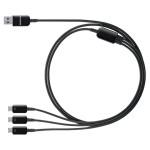 Cablu de incarcare microUSB 3x1 SAMSUNG ET-TG900UBEGWW, Black