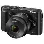 Camera foto mirrorless NIKON 1 V3, 18.4 Mp, 3 inch, negru + obiectiv 10-30mm