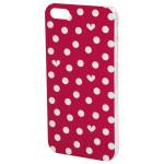 Carcasa de protectie pentru iPhone 5/5S ELLE Hearts & Dots 123797, Red