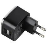 Incarcator retea HAMA 124401, USB Dual Port, negru