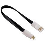 Cablu de date/incarcare microUSB cu magnet, HAMA 124547, Black