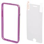 Bumper + Folie de protectie pentru iPhone 6 Plus, HAMA Edge 135055, Purple
