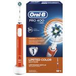 Periuta de dinti cu acumulator BRAUN Oral-B PRO 400 Cross Action, portocaliu