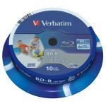 BD-R SL LTH VERBATIM 43751, 6x, 25GB, printabil, 10buc - Spindle