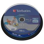 BD-R SL Datalife VERBATIM 43804, 6x, 25GB, printabil, 10buc - Spindle