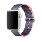 Bratara pentru APPLE Watch Seria 1, 42 mm, nylon, pink-blue
