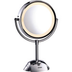 Oglinda cosmetica BABYLISS Round Lighted 8438E, 20.5cm