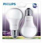 Set 2 becuri LED PHILIPS 8718696491102, 9W, E27, 2700K, alb cald