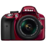 Camera foto DSLR NIKON D3300 + obiectiv AF-P 18-55mm VR , 24.2 Mp, 3 inch, rosu