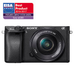 Camera foto digitala compacta SONY Alpha A6300 cu obiectiv interschimbabil 16-50mm, 24.2Mp, 4K, 3 inch, negru