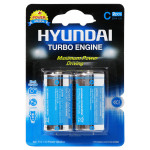 Baterie alcalina HYUNDAY Turbo R14, C, 2 bucati