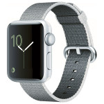 APPLE Watch Series 2 38mm Silver Aluminum Case, Pearl Woven Nylon Band