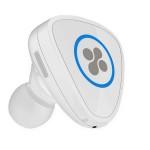 Casca Bluetooth PROMATE Aria cu dock magnetic de incarcare si incarcator auto 2A, White