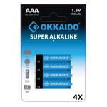 Baterii alcaline AAA OKKAIDO BA-049, 4 bucati
