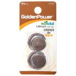Baterii litiu GOLDEN POWER CR-2025, 2 bucati