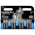 Baterii alcaline DURACELL Turbo Star Wars AA R6, 8 bucati