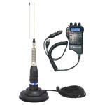 Kit Statie radio CB Midland Alan 52 + Antena CB Midland ML145 cu magnet