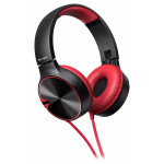 Casti on-ear cu microfon PIONEER SE-MJ722T-R, negru-rosu