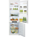 Combina frigorifica incorporabila HOTPOINT BCB 8020 AA F C, congelator No Frost, 296l, A+, alb