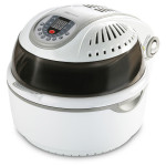 Multicooker DELIMANO 3D Air Fryer, 1400W, alb-negru