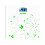 Cantar de persoane EBODA CEP1011, electronic, 150kg, sticla, alb-verde