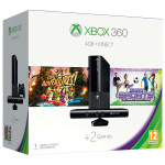 Consola MICROSOFT Xbox 360 4GB + Kinect Sensor + 2 jocuri ( Kinect Adventures, Kinect Sport Ultimate Colection) + 1 luna Xbox Live Gold