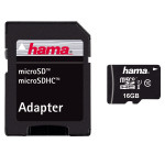 Card de memorie microSDHC 16GB Clasa 10 UHS-I 45MB/S + adaptor, HAMA 114733