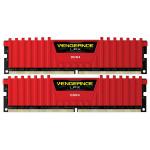 Memorie desktop Corsair Vengeance LPX Red 2x8GB DDR4, 2400MHz, CL16,  CMK16GX4M2A2400C16R