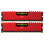 Memorie desktop Corsair Vengeance LPX Red 2x8GB DDR4, CL16, CMK16GX4M2B3200C16R