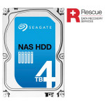 "Hard Disk NAS + Rescue SEAGATE 4TB, 3.5"", SATA3, 5900rpm, 64MB, ST4000VN003"