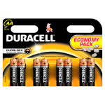Baterii DURACELL AA Basic Duralock, 8 bucati