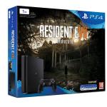 Consola SONY PS4 Slim 1TB, negru + Joc Resident Evil 7