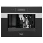 Espressor incorporabil HOTPOINT CM 9945 HA, 1.8l, 1400W, control electronic, finisaj inox cu sticla neagra