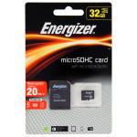 Card de memorie microSDHC 32GB ENERGIZER + adaptor SD