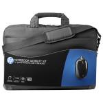 "Geanta laptop HP H6L24AA, 16"", textil, negru + mouse optic"