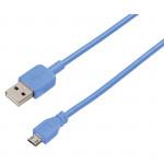 Cablu de incarcare / sincronizare microUSB universal HAMA U6108960, Blue
