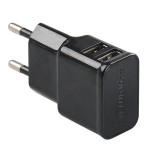Incarcator de retea PROMATE Hype-EU, 2xUSB, 5V, 2A, negru