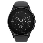 Smartwatch VECTOR Luna, Flat Black with Black Silicone Strap