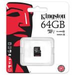 Card de memorie microSDXC 64GB clasa 10 UHS-I 45MB/s,  KINGSTON SDC10G2/64GBSP