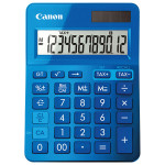 Calculator de birou CANON LS-123K, 12 cifre, albastru