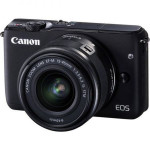 Camera foto mirrorless CANON EOSM10, 18Mp, 3 inch, obiectiv 15-45 mm,  f/3.5-6.3 IS STM, negru