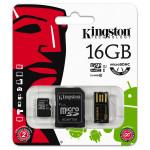 MicroSDHC Multi Kit / Mobility Kit G2 16GB Clasa 10 KINGSTON MBLY10G2/16GB